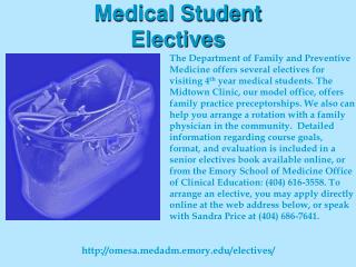 Medical Student Electives