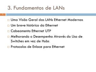 3. Fundamentos de LANs