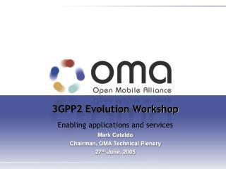 3GPP2 Evolution Workshop  Enabling applications and services Mark Cataldo
