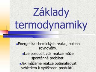 Z klady termodynamiky