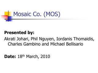 Mosaic Co. (MOS)