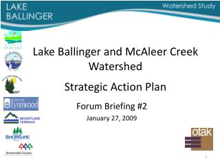 Lake Ballinger and  McAleer  Creek Watershed Strategic Action Plan