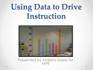 Using Data to Plan for Instruction