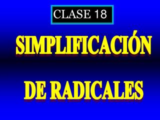 CLASE  18