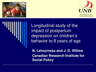 Longitudinal study of the impact of postpartum depression on children's behavior to 8 years of age