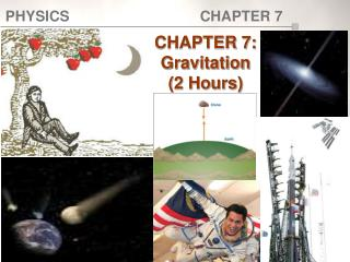 CHAPTER 7:  Gravitation (2 Hours)