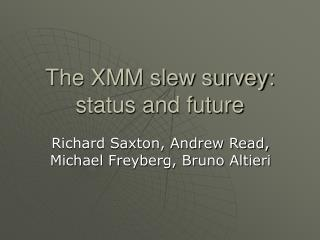 The XMM slew survey: status and future