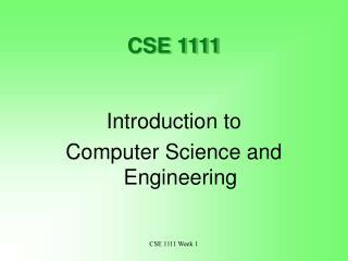 CSE 1111