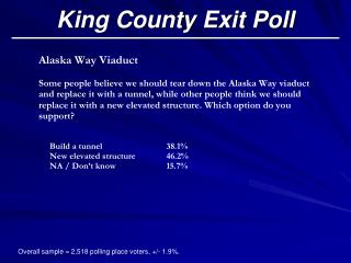 King County Exit Poll