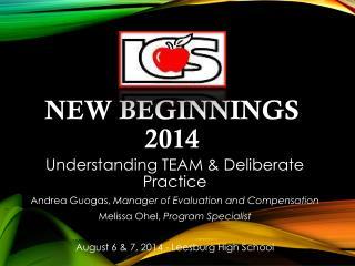 New Beginnings 2014