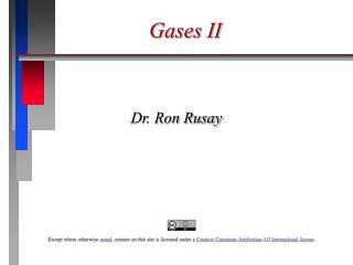 Gases II