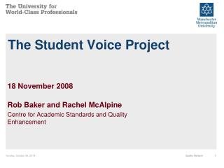 The Student Voice Project