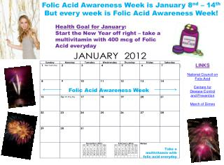 Folic Acid Awareness Week is January 8nd   14th But every week is Folic Acid Awareness Week
