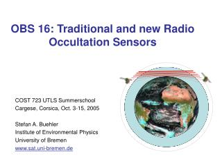 OBS 16: Traditional and new Radio Occultation Sensors