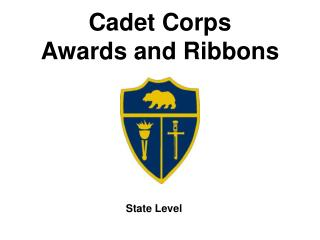 Cadet Corps Awards and Ribbons