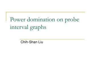 Power domination on probe interval graphs