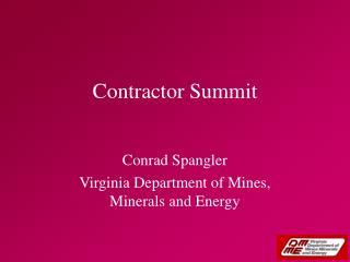 Contractor Summit