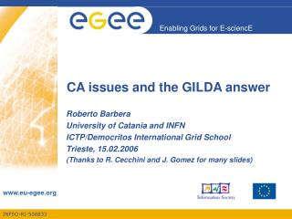 CA issues and the GILDA answer
