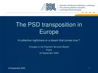 The PSD transposition in Europe