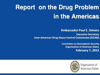 Inter-American Drug Abuse Control  Commission