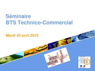 Séminaire  BTS Technico-Commercial . Mardi 24 avril 2012
