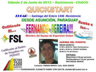 AGENDA DEL EVENTO : S�bado 02/06/12: 17:00 a 18:00  hs: Taller  Distribuidores