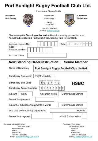 Port Sunlight Rugby Football Club Ltd.