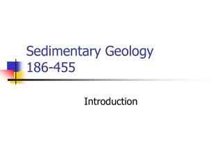 Sedimentary Geology 186-455