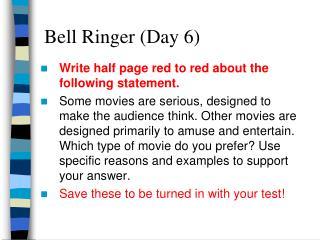 Bell Ringer (Day 6)
