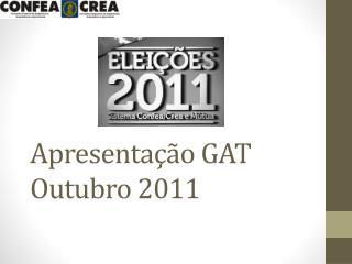 Apresentação GAT Outubro 2011