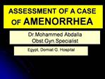 Dr.Mohammed Abdalla Obst.Gyn.Specialist