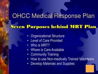OHCC Medical Response Plan
