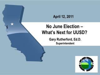 No June Election – What's Next for UUSD?