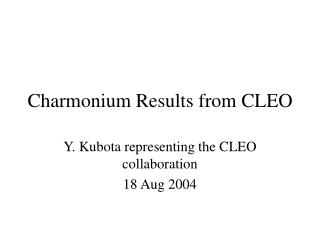Charmonium Results from CLEO