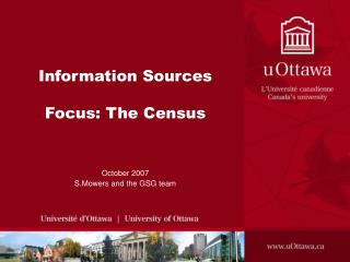 Information Sources Focus: The Census