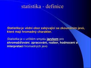 statistika - definice