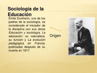 Sociolog a de la Educaci n