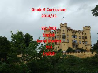 Grade 9 Curriculum 2014/15 901/902 English Social Studies 903 English