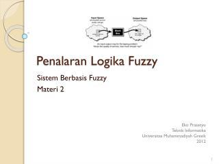 Penalaran Logika  Fuzzy