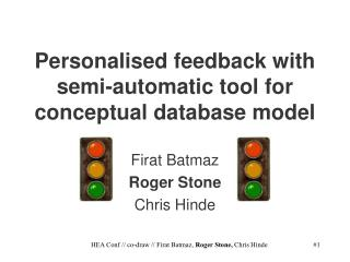 Personalised feedback with semi-automatic tool for conceptual database model