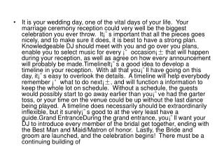 It is your wedding day