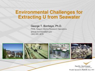 Environmental Challenges for Extracting U from Seawater