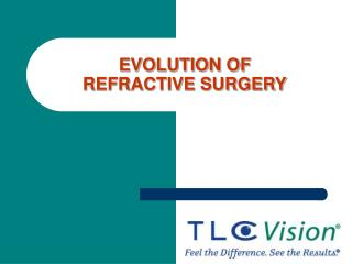 EVOLUTION OF  REFRACTIVE SURGERY