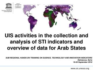 SUB-REGIONAL HANDS-ON TRAINING ON SCIENCE, TECHNOLOGY AND INNOVATION INDICATORS
