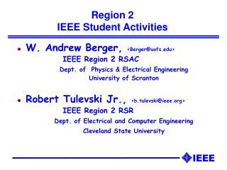 Region 2  IEEE Student Activities