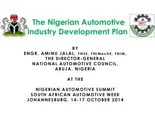 The Nigerian Automotive  Industry Development Plan