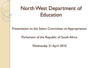 North West Department of Education