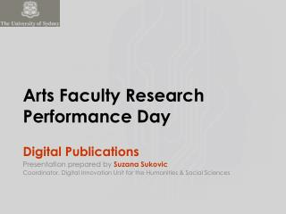Arts Faculty Research Performance Day
