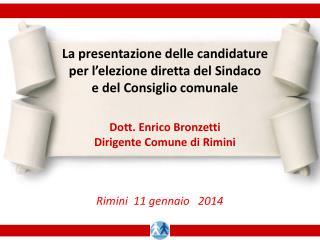 La presentazione delle candidature per l'elezione diretta del Sindaco e del Consiglio comunale