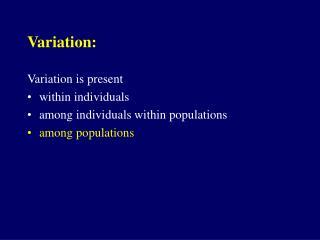 Variation: